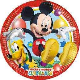Piatto 20 cm busta 8 pz *Playful Mickey