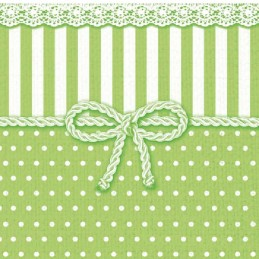 NAPKIN 33 BOW GREEN FSC MIX