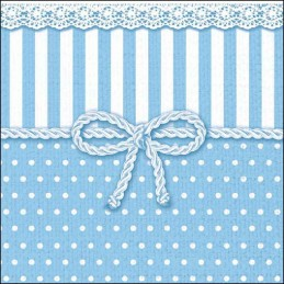 NAPKIN 33 BOW BLUE FSC MIX