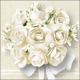NAPKIN 33  WHITE ROSE FSC MIX