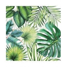 NAPKIN 25 TROPICAL LEAVES MIX
