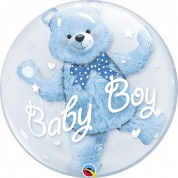 "24"" DOUBLE BUBLE BABY BLU BEAR cm 61"