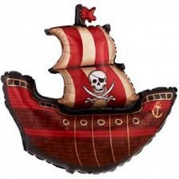 "40"" S/SHAPE PIRATE SHIP..."