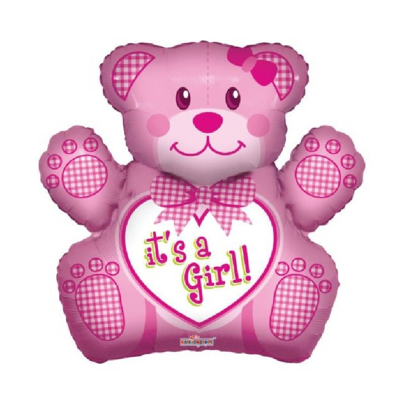 Palloncino Mylar Nascita Orsetto Rosa It's a Girl