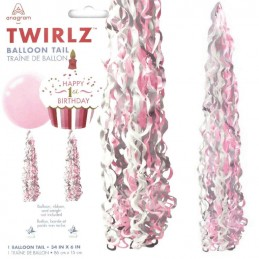 Festone Twirlz Medium Rosa...