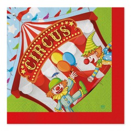 20 Tov.li cm.33 x 33 Circus Party