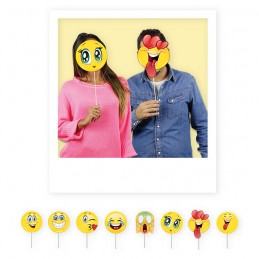 8 Photo Booth cm. 20 Emoticons