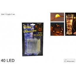 Catena filo 40 led luce...