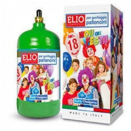 Bombola elio usa e getta 18 palloncini 1 lt con sistema easy fill level on/off