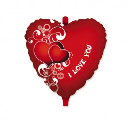"Pallalloncino Mylar Cuore cm.45 I Love You (18"")"