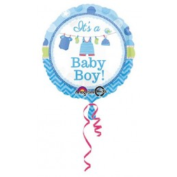 Palloncino It's a Baby Boy Celeste
