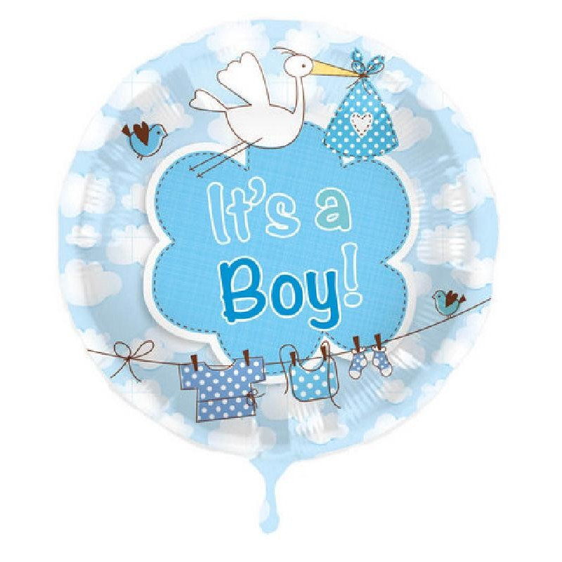 Palloncino Nascita It's a Boy Celeste