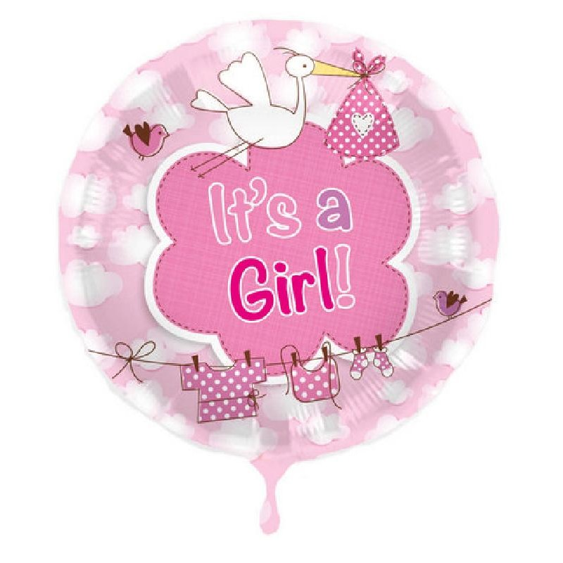 Palloncino Nascita It's a Girl Rosa
